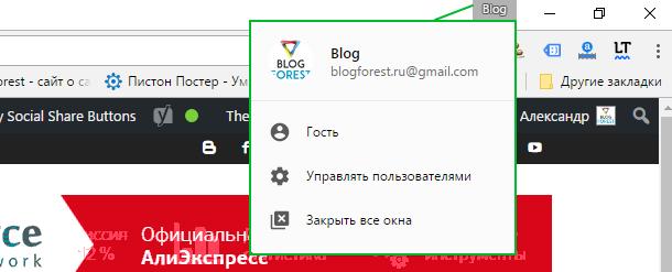 BlogForest.ru - Заработок в интернете, seo, создание сайтов_вход_в аккаунт_chrome