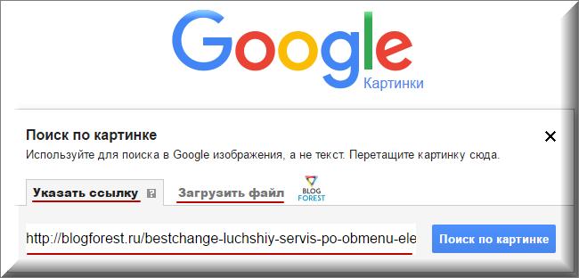 Загрузка картинки в поиск Google