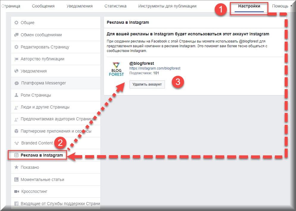 как привязать инстаграм в фейсбуке